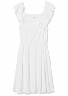 Three Dots Women's AA5884 Flutter SLV Square Neck Dress