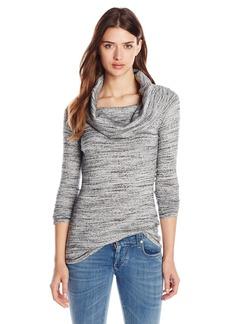 Three Dots Women's Alexandra Long Sleeve Off Shoulder Tunic Top