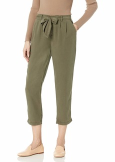 Three Dots Women's All Weather Twill Pleated 3/4 Loose Pant NICOISE Extra Large