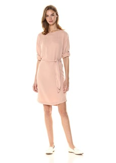 Three Dots Women's All Weather Twill Short Loose Dress