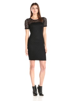 Three Dots Women's Angelina Lined Lace Dress