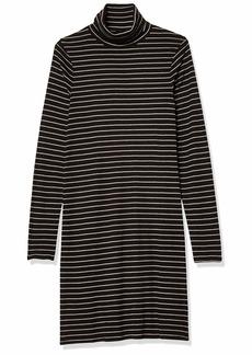 Three Dots Women's AU5836 Autumn Stripe Turtleneck Dress  Extra Large