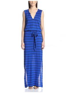 Three Dots Women's Belted Maxi Dress  XS