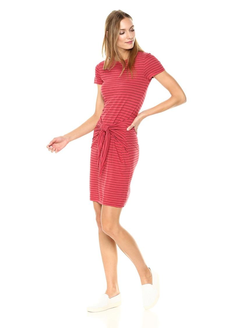 Three Dots Women's Big sur Stripe Short Loose Dress  Extra Large