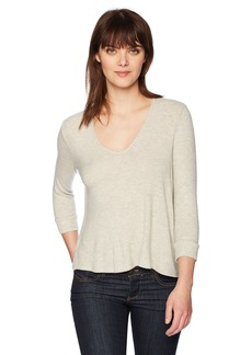 Three Dots Women's Brushed High Low Sweater  Extra Small
