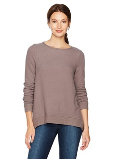 Three Dots Women's Brushed Sweater British Loose Mid Shirt  Xtra Small