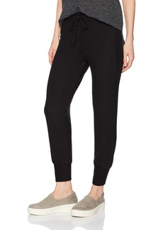 Three Dots Women's Brushed Sweater Cropped Jogger Loose Mid Pants