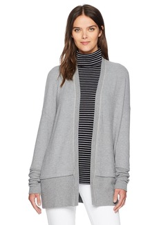 Three Dots Women's Brushed Sweater Long Loose Cardigan