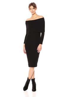 Three Dots Women's Brushed Sweater Off Shoulder Tight Long Dress  Extra Large