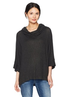 Three Dots Women's Brushed Sweater Oversized Short Loose Shirt