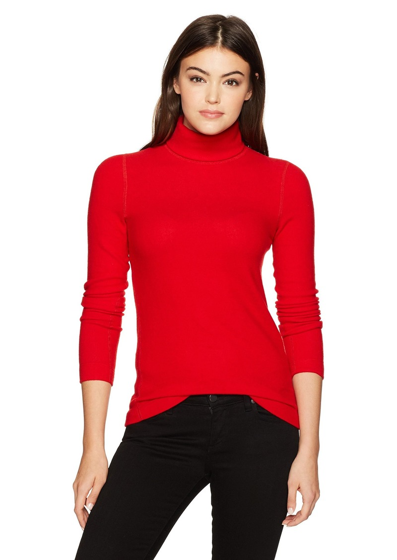 Three Dots Women's Brushed Sweater Tight Mid Shirt