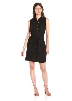 Three Dots Women's Button up Tie Front Dress  M