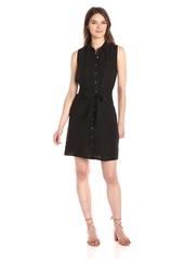Three Dots Women's Button Up Tie Front Dress  S
