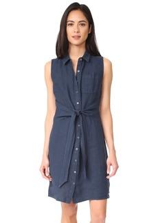 Three Dots Women's Button Up Tie Front Dress  XL