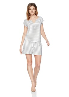 Three Dots Women's Cape cod Stripe Short Loose Romper  Extra Large