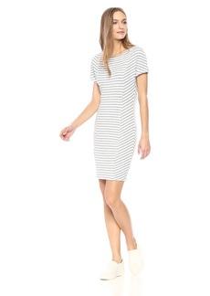 Three Dots Women's Cape Cod Stripe Tight Mid Dress