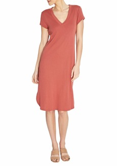 Three Dots Women's Casual V-Neck Dress