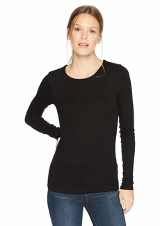 Three Dots Women's CI2711 Luxe Rib l/s Crewneck tee