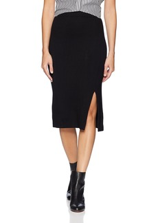 Three Dots Women's CI3238 Luxe Rib Pencil Skirt  Extra Small
