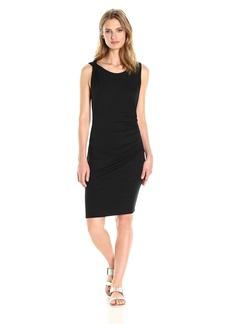Three Dots Women's Classic Jersey Ruched Mini Dress  L