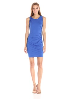 Three Dots Women's Classic Jersey Ruched Mini Dress  L