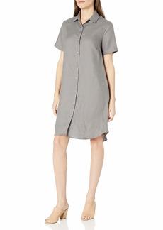 Three Dots Women's Classic Linen Shirt Dress  XLarge