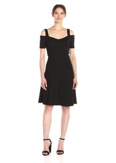 Three Dots Women's Cold Shoulder Dress  XS