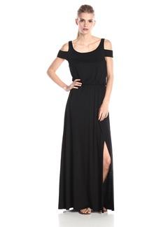 Three Dots Women's Cold Shoulder Maxi Dress