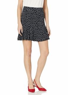Three Dots Women's Confetti dot Pull on Short Skirt