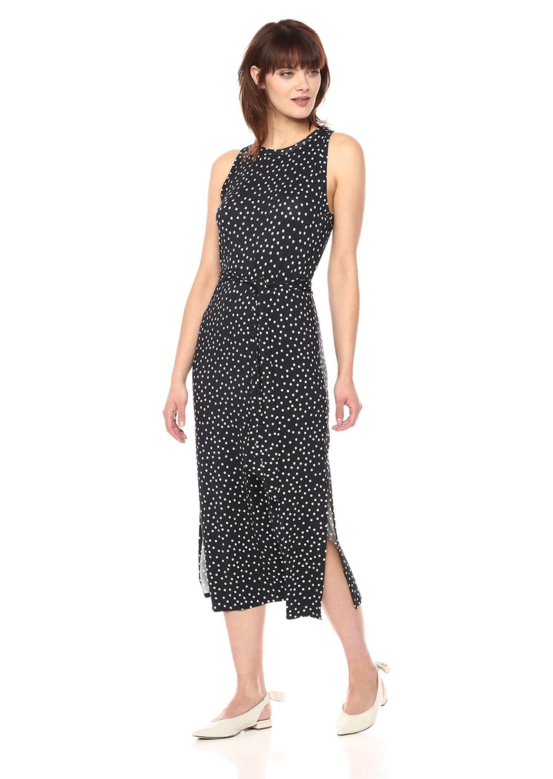 Three Dots Women's Confetti Dot Sleeveless Mid Loose Dress  Extra Small