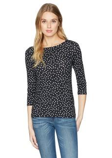 Three Dots Women's Confetti Dot Tight Short Shirt