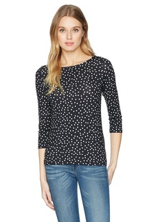 Three Dots Women's Confetti dot Tight Short Shirt  Extra Large
