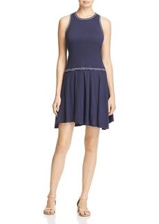 Three Dots Women's Contrast Stitch Heritage Rib Fit & Flare Dress Night iris XL
