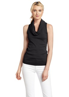 Three Dots Women's Cotton Cowl Neck Top