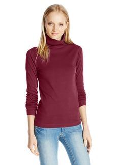 Three Dots Women's Cotton Turleneck Top