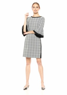 Three Dots Women's CP5854 Glenn Plaid Jacquard Dress