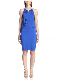 Three Dots Women's Cutout Wrap-Top Dress  L