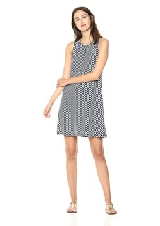 Three Dots Women's Desert Stripe a-Line Short Loose Dress  Extra Large