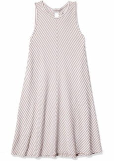 Three Dots Women's Desert Stripe a-line Short Loose Dress  Extra Small