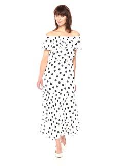 Three Dots Women's dot Voile Maxi Long Loose Dress