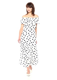 Three Dots Women's Dot Voile Maxi Long Loose Dress  Extra Large