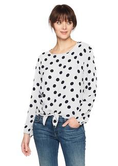 Three Dots Women's dot Voile tie Short Shirt