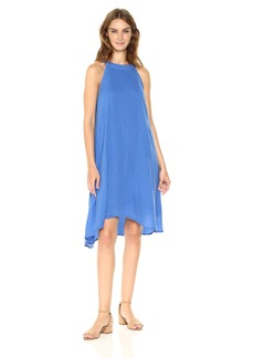 Three Dots Women's Double Gauze Cut Away Trapeze Dress  XL