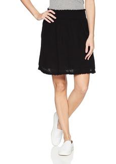 Three Dots Women's Double Gauze Loose Short Skirt  Extra Small