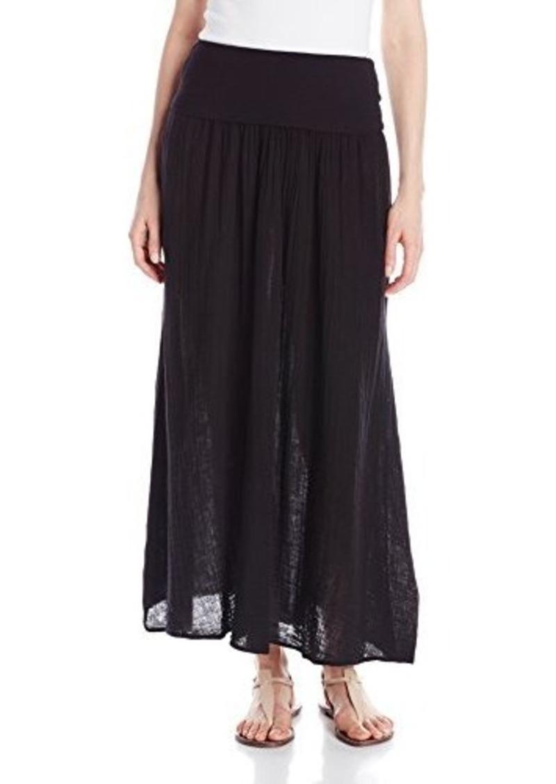 Three Dots Three Dots Women S Double Gauze Maxi Skirt With