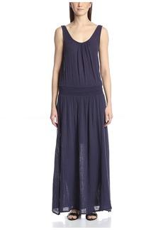 Three Dots Women's Double Scoop Maxi Dress  XS