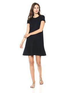 Three Dots Women's eco Knit Loose Short Pocket Dress Night iris
