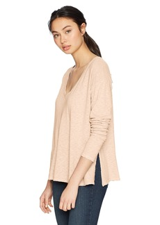 Three Dots Women's eco Knit Short Loose v-Neck Shirt