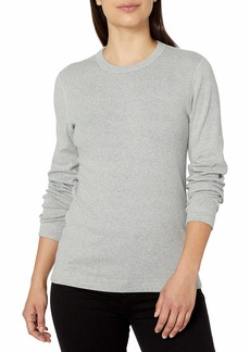Three Dots Women's Essential Crew Neck Long Sleeve Tee  XS