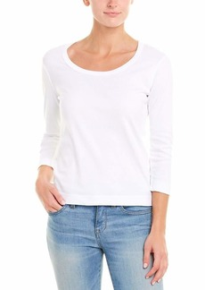 Three Dots womens Essential Playgirl Scoop Neck 3/4 Sleeve Tee fashion t shirts   US